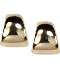 anne klein gold-tone button post earrings
