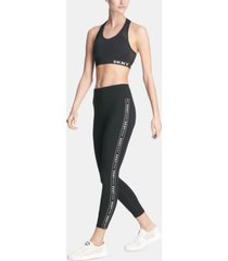 dkny sport logo ankle leggings
