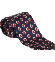 barba napoli blue silk tie