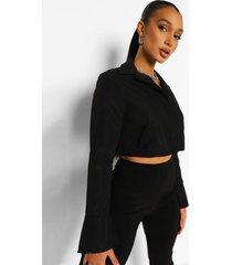 korte blouse, black