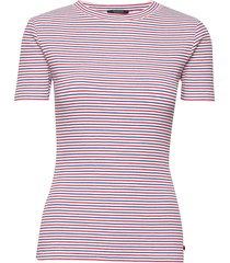 amsterdams blauw women t-shirts & tops short-sleeved rosa scotch & soda