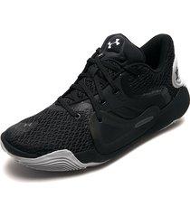 tenis basketball negro-gris under armour ua spawn 2
