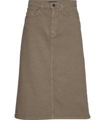 0639 - kathy skirt knälång kjol beige sand