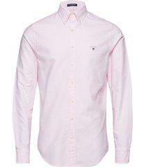 slim oxford shirt bd overhemd business roze gant