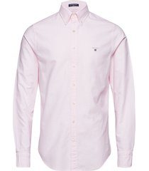 slim oxford shirt bd overhemd business roze gant
