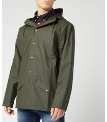 rains men's jacket - green - s/m