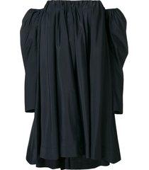 bardot ruffled dress