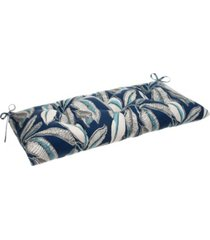 ef home decor indoor/outdoor reversible tufted loveseat/bench cushion with ties, san juan