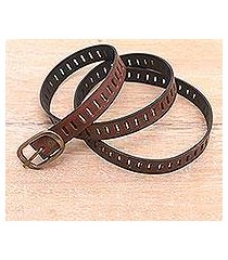 leather belt, 'bold chemistry' (indonesia)