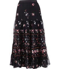 tory burch embroidered skirt