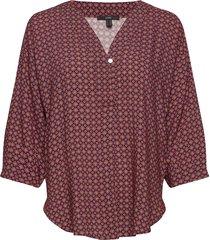blouses woven blus långärmad röd esprit collection