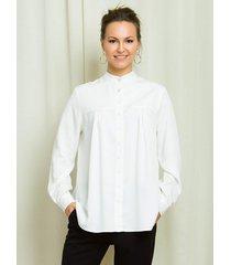 koszula biała z marszczeniami