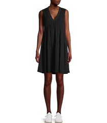 laundry by shelli segal women's ribbed tiered dress - heather grey - size xs