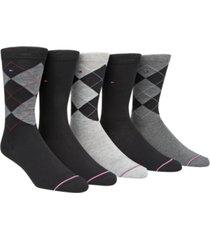 tommy hilfiger men's 5-pk. argyle crew socks
