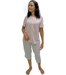 pijama mardelle pescador aberto malha estampado - kanui