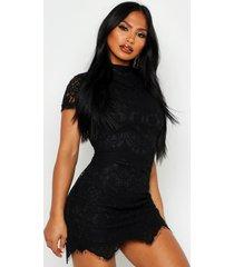 boutique kanten bodycon jurk, zwart