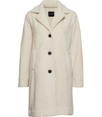 slfnanna teddy coat b wollen jas lange jas crème selected femme
