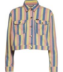 cropped jacket jeansjacka denimjacka multi/mönstrad wrangler