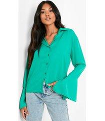 blouse met mouwsplit, bright green