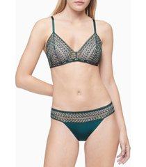 calvin klein women's striped lace triangle bralette qf5872
