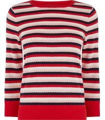 gestreepte bewerkte trui
