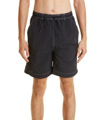 isabel marant men's hydra swim shorts, size medium in faded black at nordstrom
