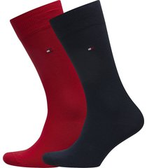 socks 2-pairs underwear socks regular socks röd tommy hilfiger