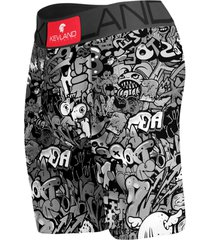 cueca boxer long leg kevland grafite p&b preto