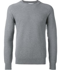 crew neck sweater seed stitch