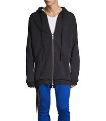 camo front-zip cotton hoodie