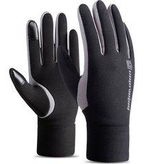 pantalla táctil cálido invierno forrado de lana guantes térmicos para esquí equitación