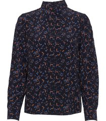 d1. multi floral shirt overhemd met lange mouwen blauw gant