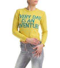 maglione maglia donna girocollo everyday is an adventure