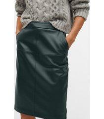 mango women's faux leather pencil skirt