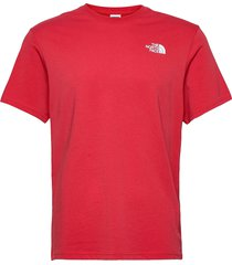 m s/s red box tee t-shirts short-sleeved röd the north face