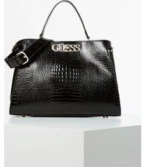 duża torebka w print skóry krokodyla model uptown chic