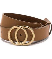 cinturon hebilla redonda marrón lorenzo di pontti