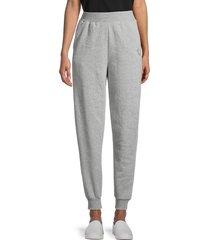 true religion women's high-rise cotton-blend jogger pants - heather grey - size l