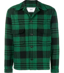 ami paris buttoned casual jacket - green