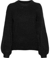 objeve nonsia ls knit pullover noos stickad tröja svart object