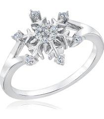 0.25ct diamond 925 disney frozen snowflake engagement gift ring free shipping
