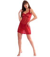 camisola mid thais gusmão renda francesa vermelha