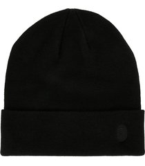a bathing ape® embroidered logo beanie - black