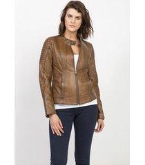 leren jas jimmy sanders 18fctw21001camel leather jacket