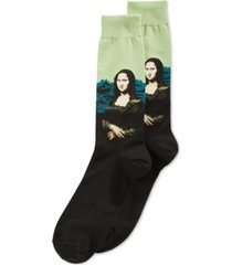 hot sox men's mona lisa crew socks