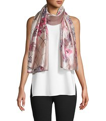 mixed-print scarf
