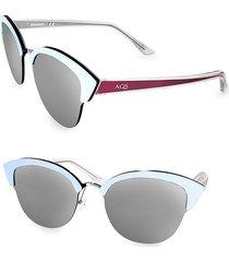 aqs women's serena 70mm cat eye sunglasses - navy blue