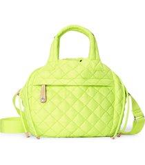 mz wallace small metro water resistant drawstring bucket bag - yellow