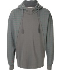 a-cold-wall* panelled relaxed-fit hoodie - grey