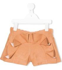 hucklebones london ruffled shorts - brown